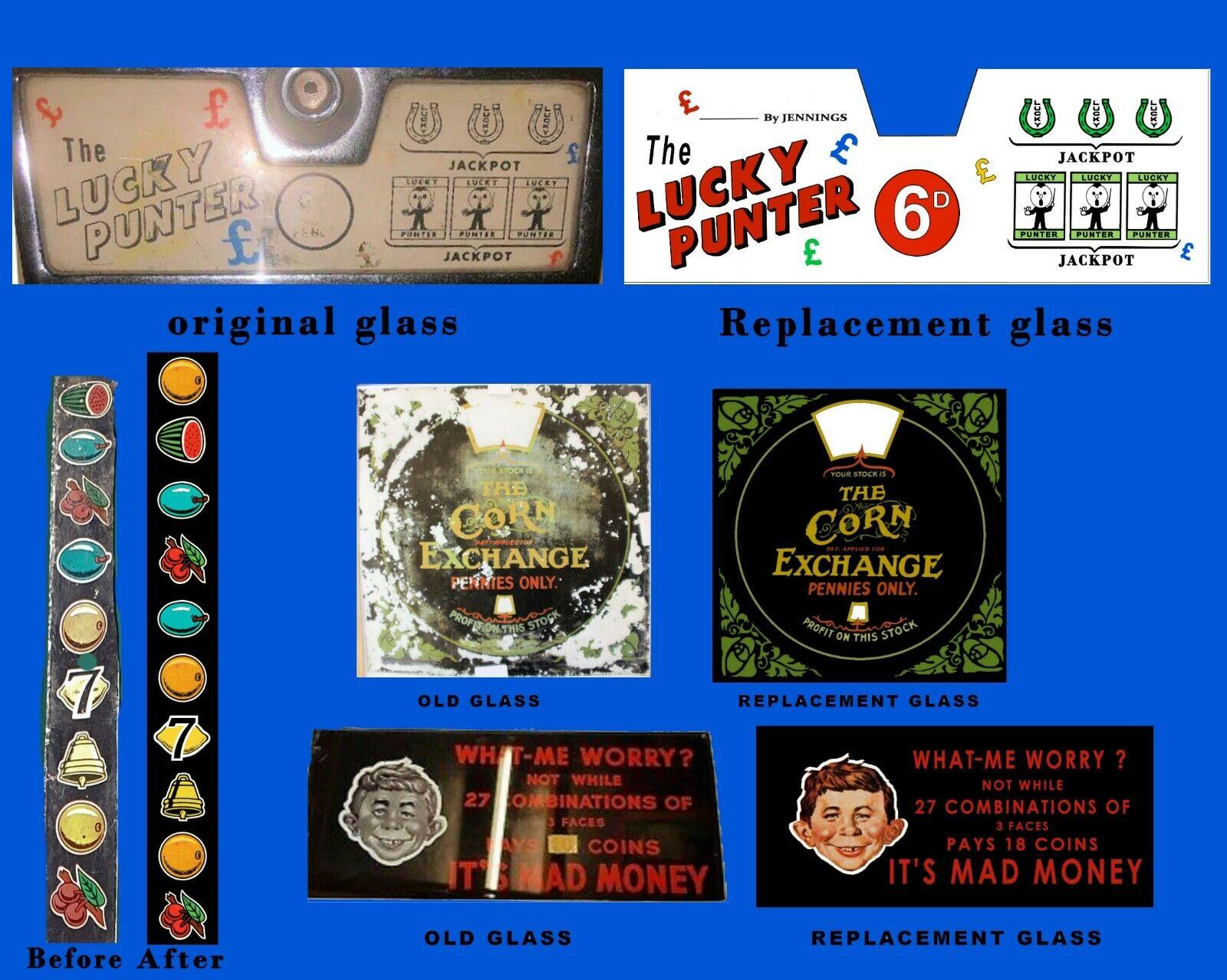 Slot machine Art Work, Award cards ,Reel strips & Glasses, custom made, From