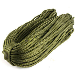 550Paracord-Parachute-Cord-Type-III-7Strand-25-50-100-250FT-Hanks-Quality-GO9
