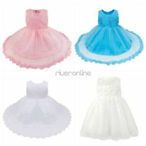 Lace-Flower-Girl-Formal-Gown-Tutu-Dress-Pageant-Birthday-Wedding-for-Baby-Girls