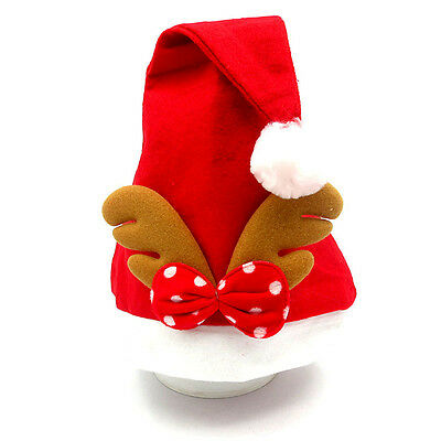 LOVELY ADULT CHILDREN MANUAL CHRISTMAS PARTY HAT FANCY DRESS COSTUME ELF HAT