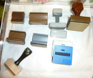 Miscellaneous-Used-Rubber-Stamp-Mounts-One-Self-inking-Stamp-Case