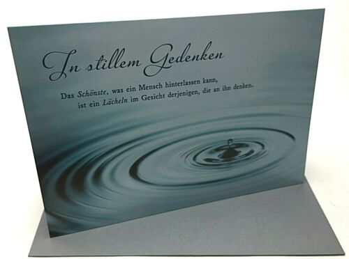 schöne Trauerkarten Kondolenzkarten Beileidskarte Anteilnahme Beerdigung Karte