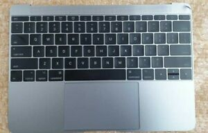 Apple MacBook A1534 2016 2017 Palmrest Top Case Touch Pad + Keyboard