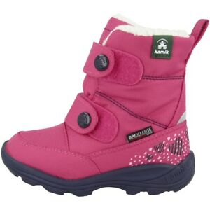 Baby Schuhe Ausdrucksvoll Kamik Pep Boots Kinder Winterstiefel Winter Schuhe Stiefel Rose Nf9021-ros üBereinstimmung In Farbe