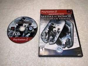 Medal-of-Honor-European-Assault-Playstation-PS2-GH-Game-in-Case-Vr-Nice