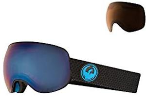NEW Dragon  X2  SN-17093 Split  Lumalens bluee Ion +1 Light Amber Snow Goggles  best quality best price