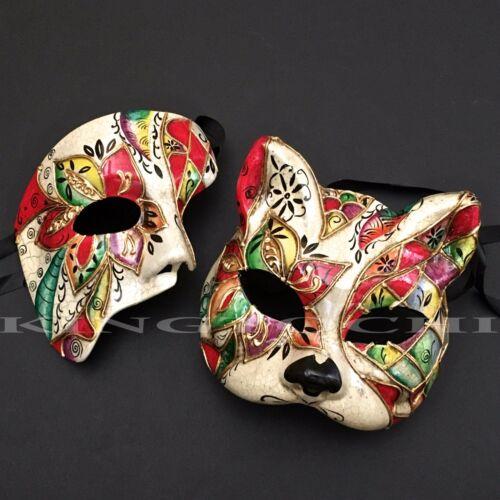 Venetian Red Accent Animal Cat Halloween Costume Masquerade Mask