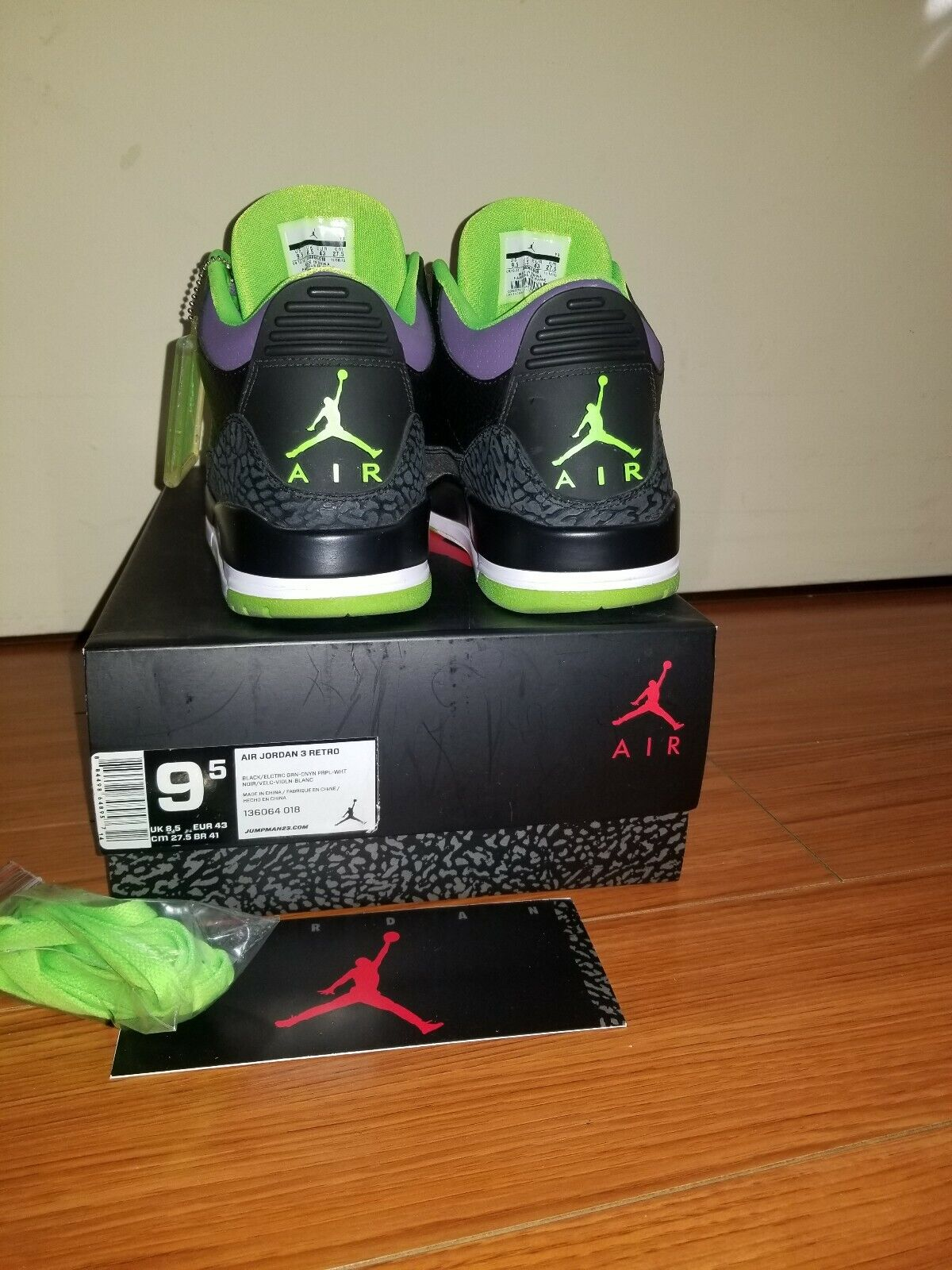 Nike Air Jordan 3 iii Joker Joker Joker black white cement 88 dunk JTH free throw line NRG dcb2e8