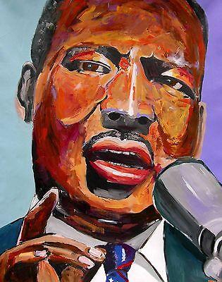Martin Luther King Jr Portrait Impression Art PAINTING Signed DAN BYL Huge 4x5ft