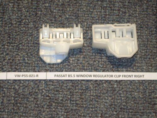 passenger VW Passat 1997- - FRONT RIGHT Window Regulator Repair Clips 2