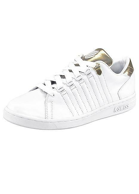 K-Swiss Lozan III TT Metallic Trainers Weiß/Gold UK 4 EU 37 LN20 86