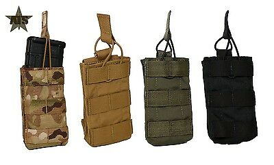 ATS Tactical Tall Single MOLLE 5.56 Magazine Pouch-Multicam-Coyote-RG-Black