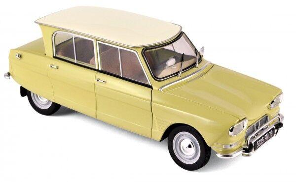 NOREV 1 18 AUTO DIE CAST CAR CITROEN AMI 6 1964 jaune NAPOLI jaune  ART 181535