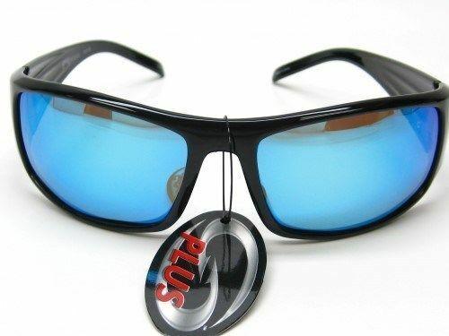 Strike King SG-SKP06 SK Plus Polarized Sunglasses Black/Blue - Fishing