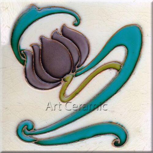Art Nouveau Reproduction Decorative Ceramic tile 070