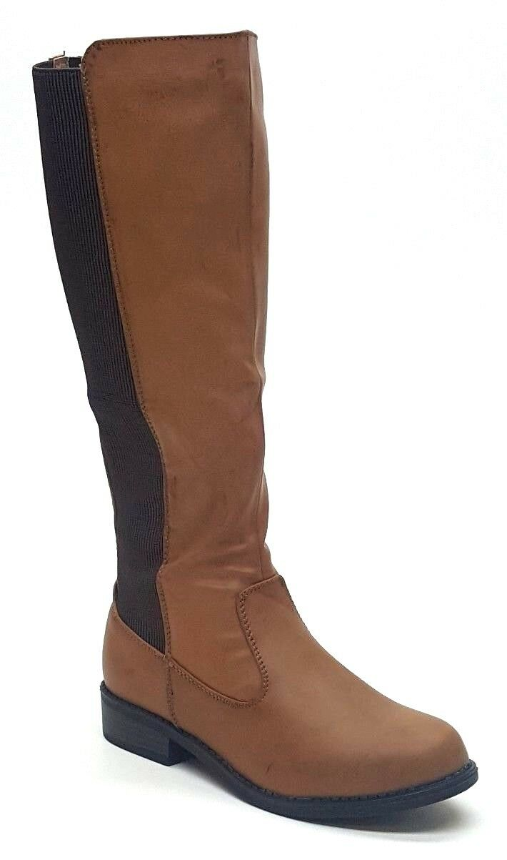 Women's Journee Collection Light Boot Chestnut Size 6  NKHYJ-M480