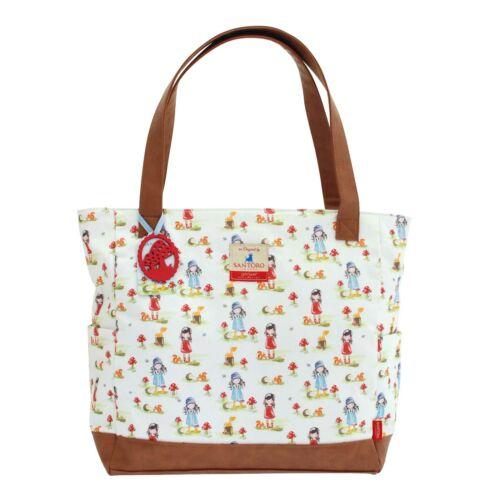 Handtasche Pastel Pattern Toadstools Canvas Handbag Santoro Gorjuss