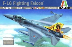 Italeri-1271-1-72-Scale-Model-Aircraft-Fighter-Kit-F-16-A-B-Fighting-Falcon