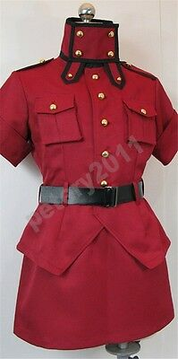Anime Hellsing Seras Victoria Cosplay Costume outfit custom made 3 Color New