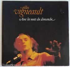 Gilles Vigneault Avec Les Mots Du Dimanche MINT Vinyl 2-LP Poster French Canada