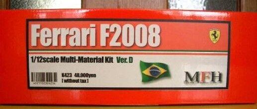 Raro Factory Hiro 1 12 Ferrari F2008 Brasil Gp Kit de Modelismo