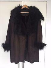 Zara Faux Fur And Faux Sheepskin Brown Coat Size XL