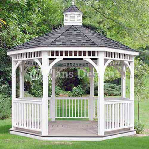 Classic garden gazebo project plans design 10012 ebay 12 classic octagon gazebo do it yourself plans material list included 10012 solutioingenieria Image collections