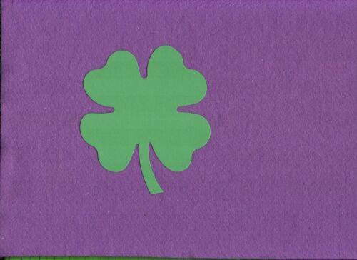 FOUR LEAF CLOVER SHAMROCK large die cuts scrapbook cards