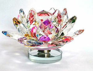 Multi color revolving crystal lotus fengshui lotus flower kamal image is loading multi color revolving crystal lotus fengshui lotus flower mightylinksfo Image collections