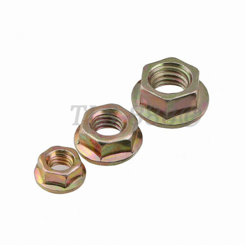 Color Zinc Steel Hex Serrated Flange Nuts Flanged Nut M3 M4 M5 M6 M8 M10 M12