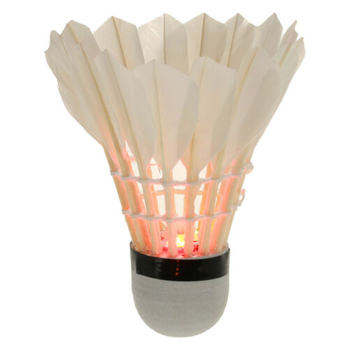 4Pcs Bunte LED Badminton Feather Federball Shuttlecocks Federbälle für Nacht Weitere Ballsportarten