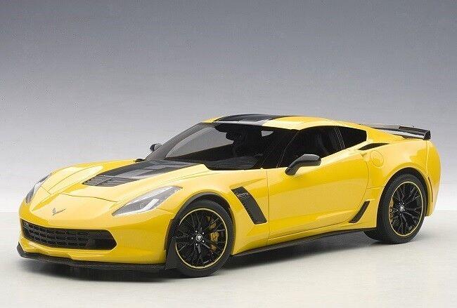 AUTOART 71260 - 1 18 CHEVROLET Corvette c7 z06 2015-Racing jaune-Neuf