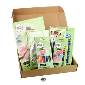 53 Piece Watercolour Kit Paint Pastels Pencils Perfect Gift for Budding Artist
