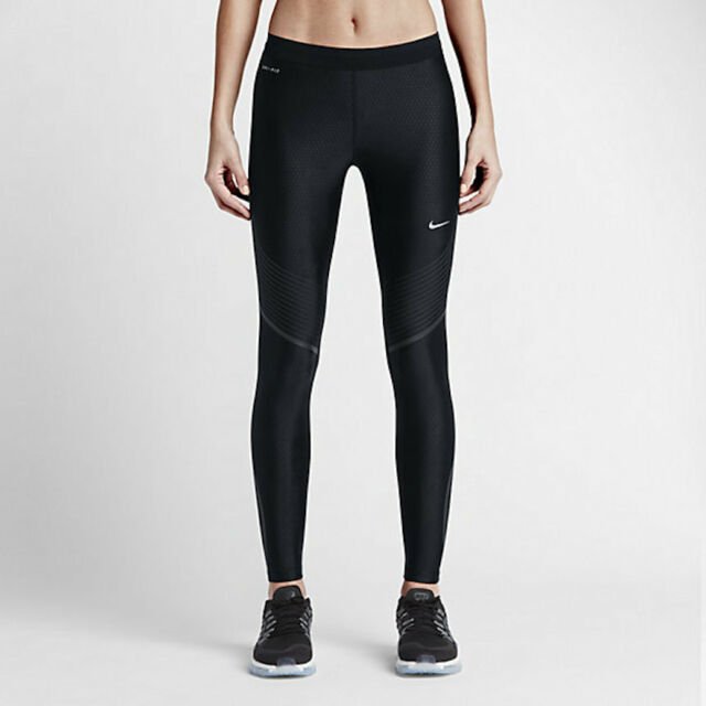 NIKE POWER SPEED WOMENS RUNNING TIGHTS 719784 010 Black Compression  150 NWT 069806d74