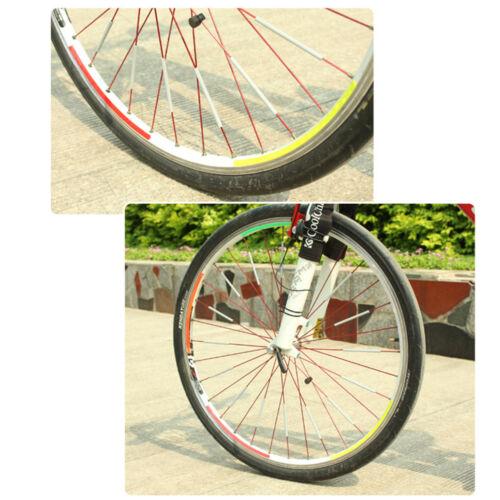 12x DIY Bike Bicycle Wheel Reflective Spoke Stick Mount Clip Tube Warning Straps