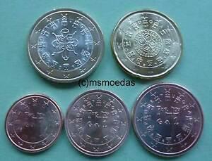 Portugal 5 Euromünzen Jahr 2011 Mit 1 Cent2 Cent5 Cent20 Cent1