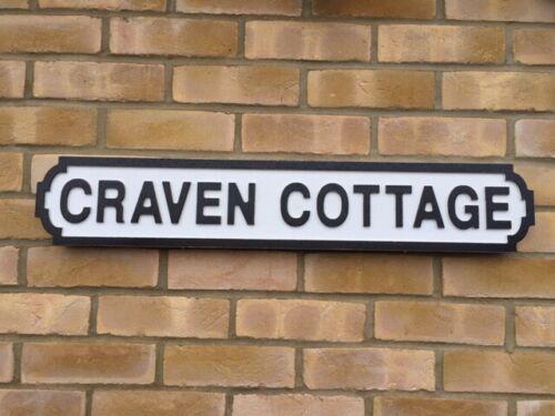 Mano pintada de madera signo calle-Acabado Blanco Vintage-Craven Cottage