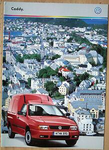 """Rare catalogue Volkswagen Caddy (fourgon et Combi)- France - 11/99 - 16p - France - État : Occasion : Objet ayant été utilisé. Consulter la description du vendeur pour avoir plus de détails sur les éventuelles imperfections. Commentaires du vendeur : """"Excellent état"""" - France"""