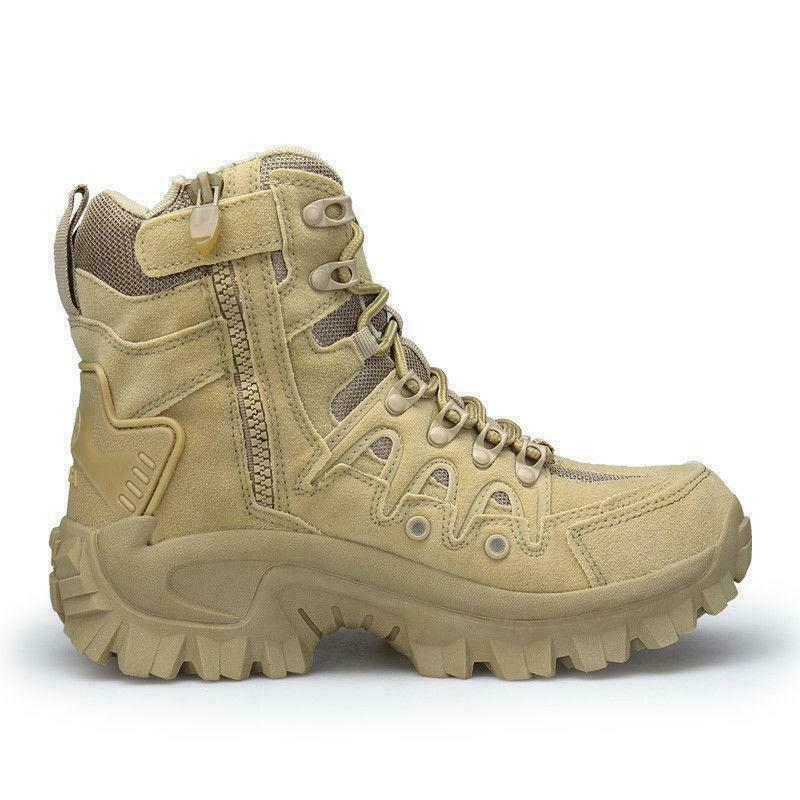 Mens High Top Military Tactical Boots Desert Army Hiking Combat Ankle Boots 2019
