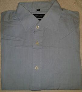 Marken Business Hemd, blau, Größe 42, Kurzarm, getragen