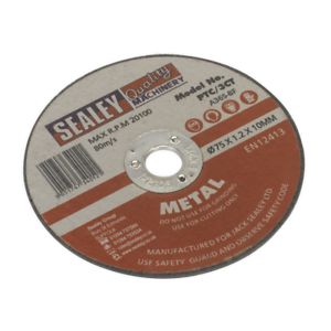 PTC-3CT-Sealey-Cutting-Disc-75-x-1-2mm-10mm-Bore-Cutting-Discs-Cutting-Discs