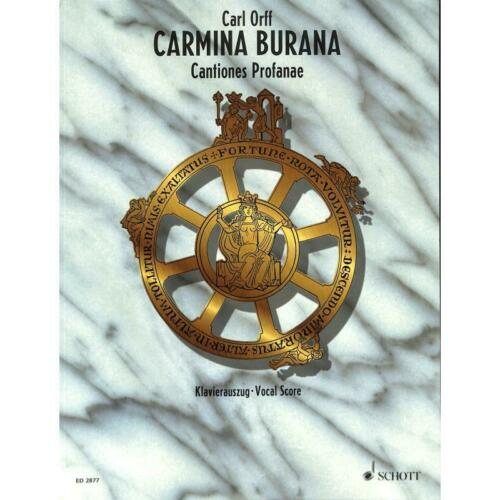 Musiknoten Klavierauszug Carl 2877 Orff Carmina Burana Cantiones profanae