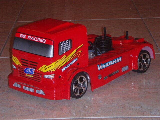 1/10 GS Racing visión rth EVO RTR 3-Cinturón Nitro 4WD camión de remolque, rojo  Nuevos