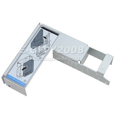 """2.5/"""" To 3.5/"""" Adapter Bracket for Dell PowerEdge Caddy Hot-Swap 09W8C4 WWGPK"""