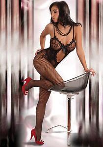 Sexy-Livco-Corsetti-Magali-Netz-Catsuit-36-46-Schwarz-Rot-S-XXL-Body-Stocking