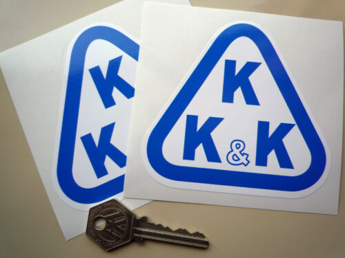 KKK Turbocharger Blue//White triangular car stickers 4in Custom Hot Rod Race Car