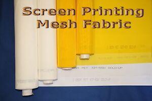 """1 yard - 280 Yellow x 63"""" Width Silk Screen Printing Mesh Fabric"""
