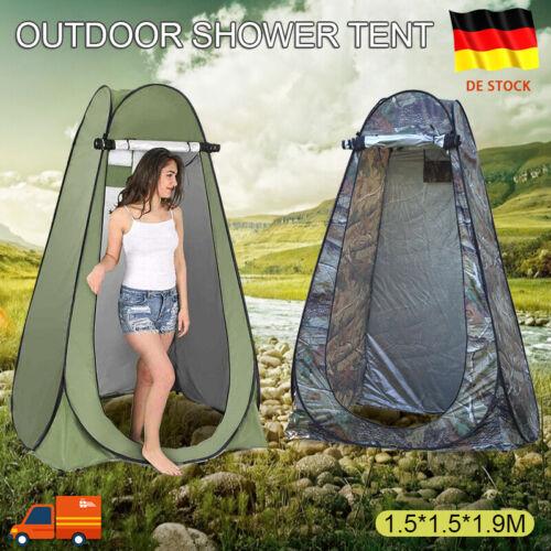 Pop Up Duschzelt Toilettenzelt Umkleidezelt Camping Zelt Beistellzelt Angelzelt+