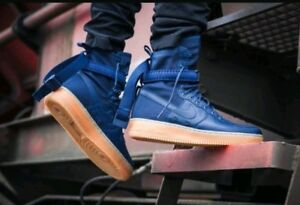 Details about SIZE 9 MEN'S Nike SF AF1 AIR FORCE Midnight Navy Blue 864024 400 Special Forces