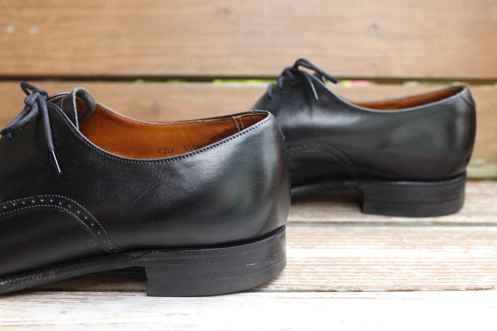 Vintage 1980s Negro Semi formales Derby, para hombres 9
